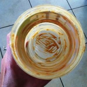 Peanut butter jar, properly scraped