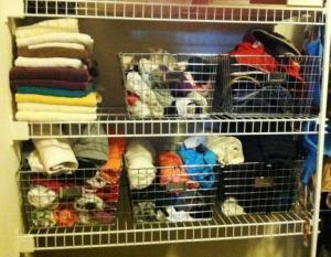 organized running gear