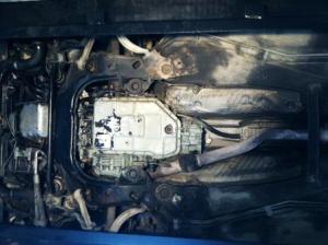 underside of a car