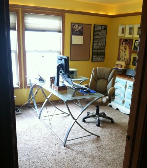 desk doorway after