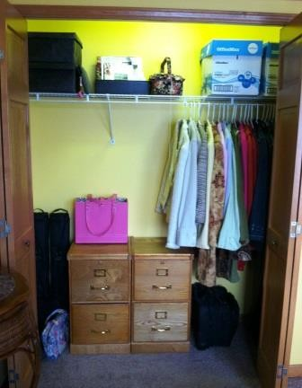 The closet after.