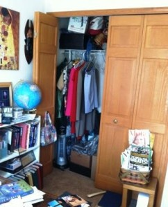 My office closet before the redecorating project.