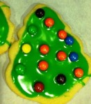 My sugar cookies are decorated with mini M&Ms this year (because I thought they needed help).