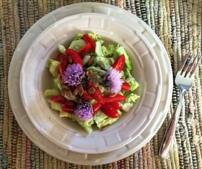 chive flower salad