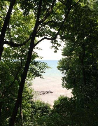Lake Michigan near Lake Bluff, Ill.