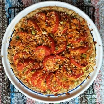 Tomato and Corn Custard Pie from the September 2014 issue of Food Network magazine