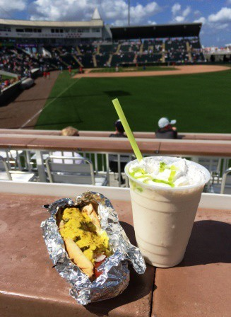 Did you know you can get a beer shake at Hammond Stadium in Fort Myers? Yup -- beer and ice cream. Together. Like mustard and relish (there's a hot dog under there somewhere).