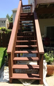 Deck steps: After