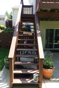 Deck steps: Before