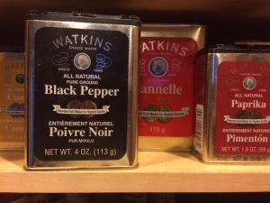 A shelf in my spice cupboard. Actually.