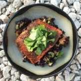 Mexican Spiced Salmon with Black Rice, Avocado & Orange Salad