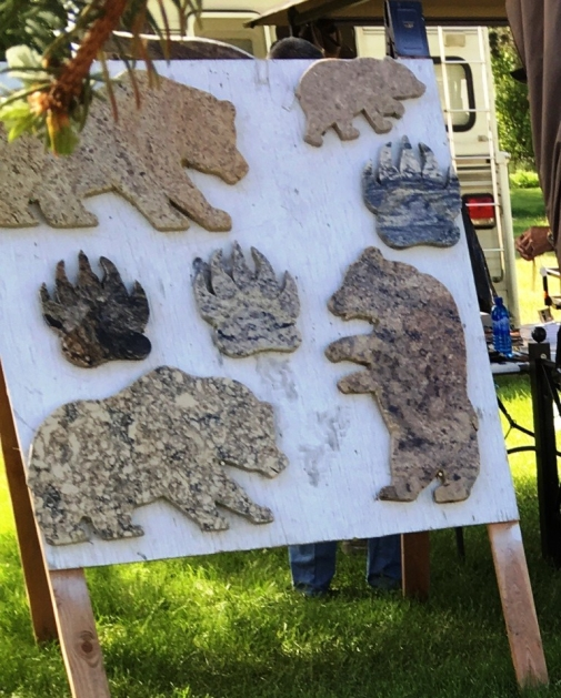 flea market granite bear cutouts
