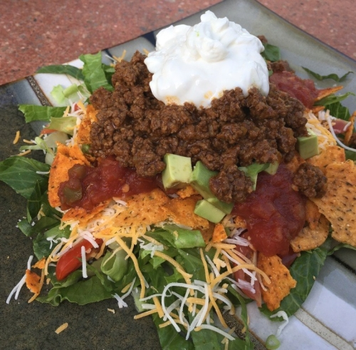 buffalo taco salad