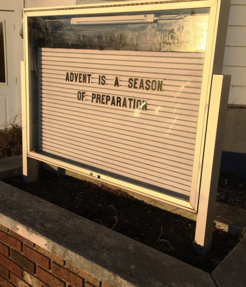 church sign advent