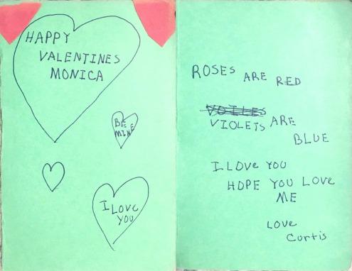 curt valentine's card