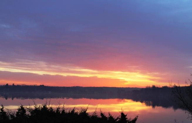 2014 lake sunset