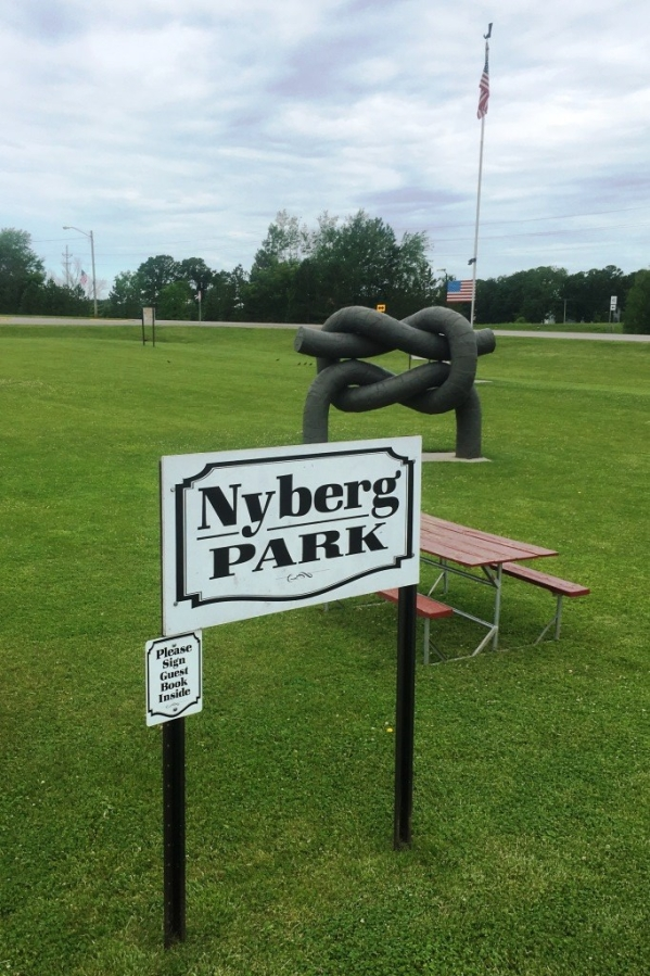 nyberg park sign
