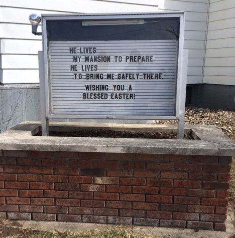 Easter Church Sign