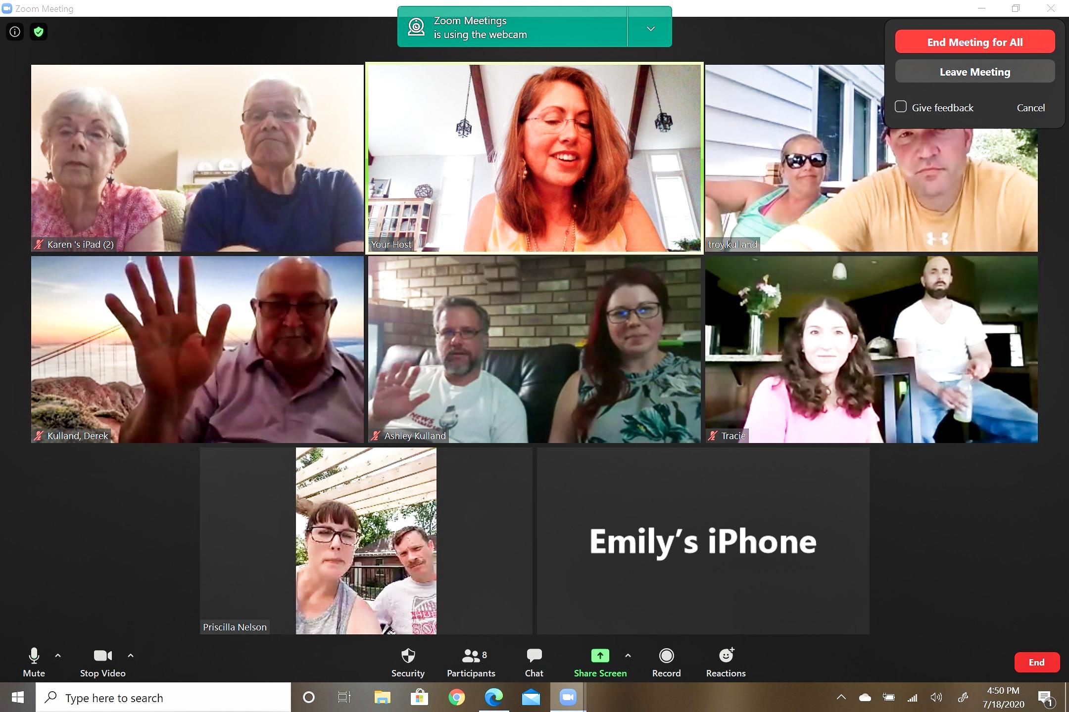 2020.07.18 Zoom Family Reunion